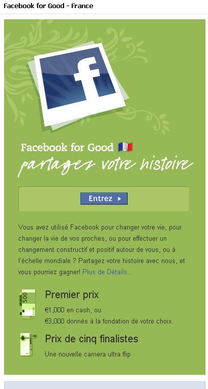 Facebook for good