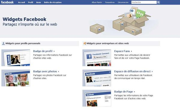 apprendre facebook installer un badge avec vos photos facebook sur votre blog. Black Bedroom Furniture Sets. Home Design Ideas
