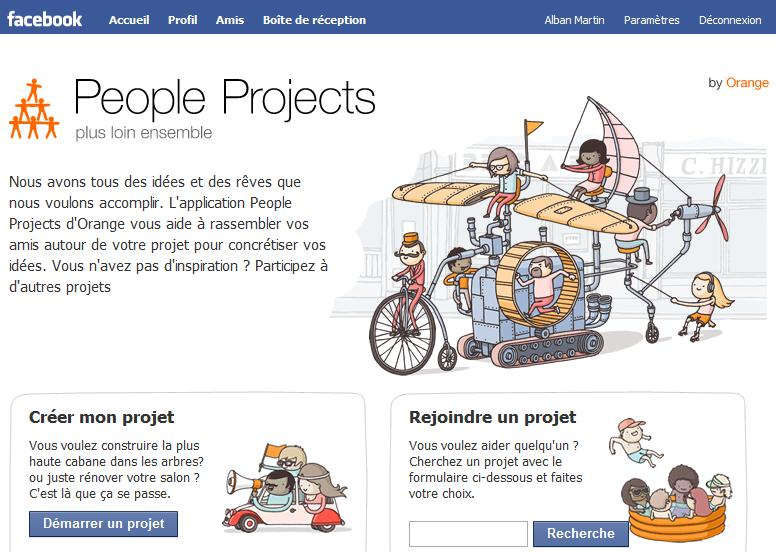 People project application facebook